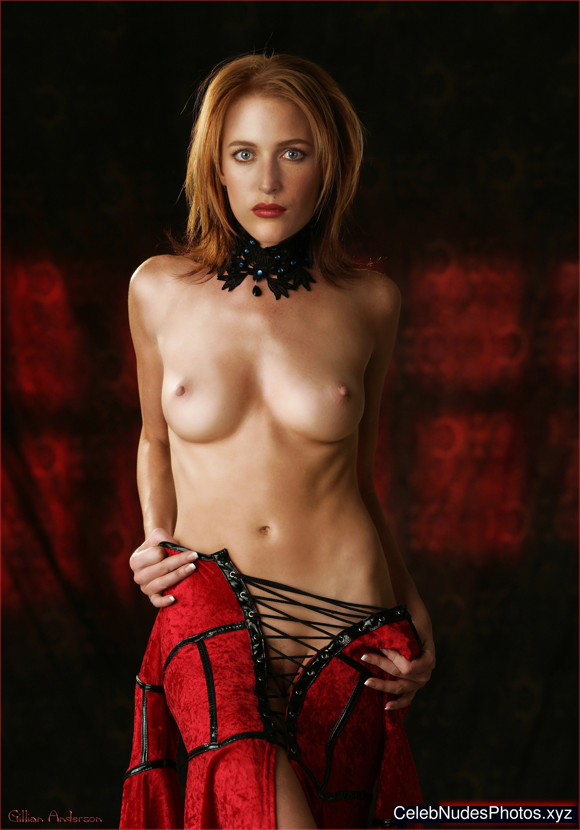 gillian anderson totally naked